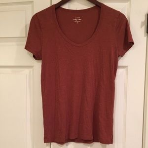J. CREW Vintage Cotton Rust Tee Shirt M